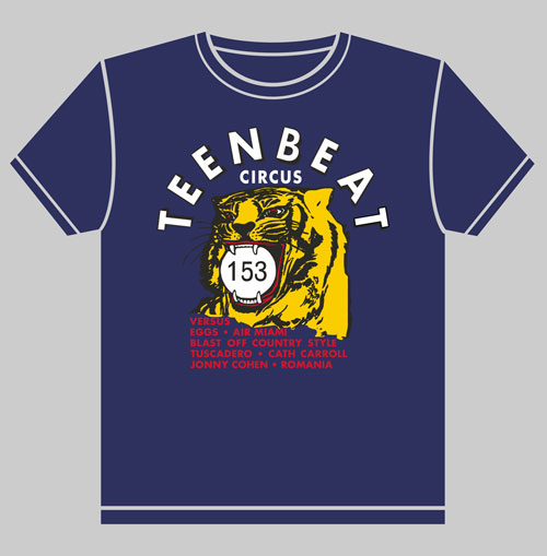 Teenbeat Circus Tour t-shirt