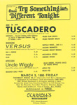 Teen-Beat Night at O'Carroll's Performance flyer Tuscadero, Versus, Uncle Wiggly, Arlington, Virginia