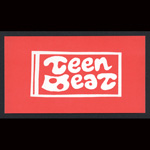 Teen-Beat adhesive sticker red