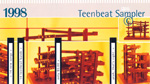 1998 Teen-Beat Sampler CD album business card-size advertisement front