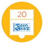 Teen-Beat 20th Anniversary Commemorative pin No.1
