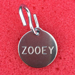 Teen-Beat 20 dog tag, front